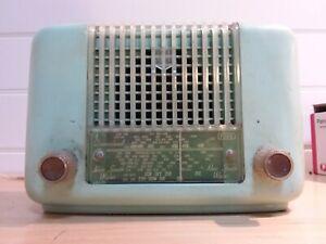 Vintage  phillips valve radio light blue color
