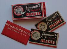 Vintage USA Razor Blades LAYMONS Pack of 3