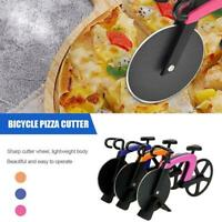 Pizza Wheel Cutter Bicycle Bike Shaped Roller Chopper Kitchen 1pc Slicer O7G5