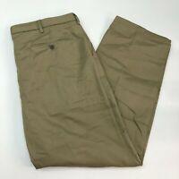 Dockers D4 Signature Khaki Pants Mens 40X32 Greenish Tan Relaxed Fit 100% Cotton