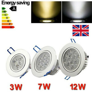 3/7/12W LED Lights Ceiling Lamp Downlights Recessed With Driver Spot Tilt Light