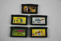 🔶Nintendo Gameboy Advance Game Bundle 5 Games Harry Potter Sponge Bob M&M Blast