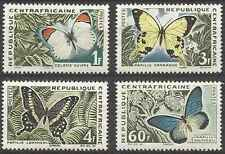 Timbres Papillons Centrafrique 31/4 ** lot 15687