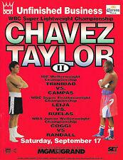 JULIO CESAR CHAVEZ vs. MELDRICK TAYLOR II On-site Boxing Program 09/17/1994 EX