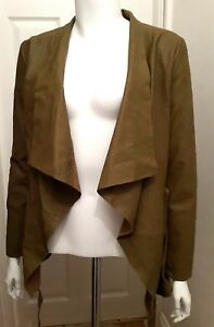 NEW Carmine Leather Jacket - Fossile - Size 36 by Cigno Nero