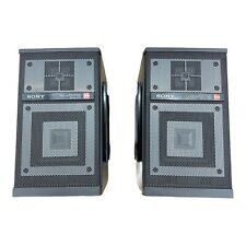 Sony APM-078 Woofer 2way Speaker System Set Left And Right With Brackets