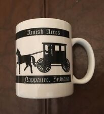 "Amish Acres Coffee Mug Ceramic Indiana 3.75"" High Perfect"
