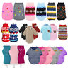 Pet Cat Dog Knitted Jumper Winter Warm Sweater Chihuahua Clothes Dog Coat Jacket