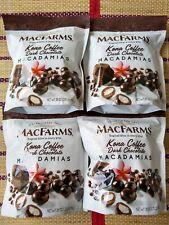 4 MacFarms Kona Coffee Dark Chocolate Hawaiian Macadamia Nuts 28 oz (1.75 lbs)