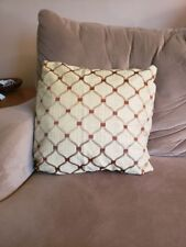Printed Decorative Pillow,gold,rust,neutral 18x18.Handmade,options avai