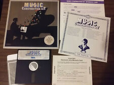 Vintage Commodore 64 Will Harvey's Music Construction Set Game Disk, Manual 1983