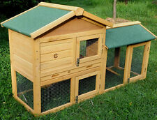 RABBIT 5FT HUTCH GUINEA PIG HUTCHES RUN RUNS LARGE 2 TIER DOUBLE DECKER CAGE