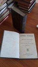 istoria d'italia di messer francesco guicciardini - 2 volumi - 1875