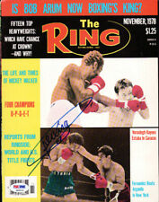 Alexis Arguello Autographed Signed The Ring Magazine Cover PSA/DNA COA S49318