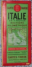 Carte Taride Routière Italie feille entière 1/1 000 000 e 1954