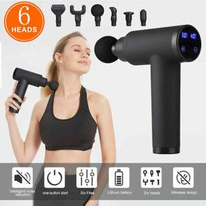 LCD Massagegerät Gun Electric Massage Massagepistole Massager Muscle mit 6 Köpfe