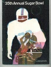 1969 Sugar Bowl NCAA Football Program Georgia vs Arkansas w/Doubloon Coin VG/EX