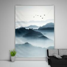 Chinese Landscape Tapestry Art Wall Hanging Sofa Table Bed Cover Home Decor