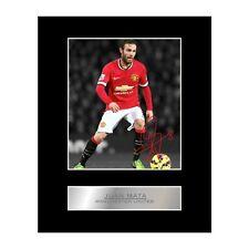 Juan Mata firmado exhibición montado foto Manchester United