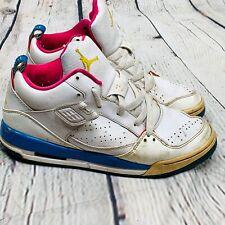 Air Jordan Flight Shoes Sneaker size 7 Youth Girl 364798-171 Pink Blue 2009