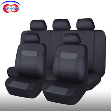 Universal Seat Covers Faux Leather Waterproof Black for Car Truck Van SUV