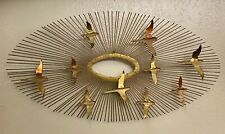 "Vintage 38"" Birds In Flight Sunburst Brutalist Metal Art C Jere Wall Sculpture"
