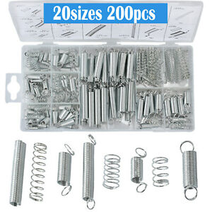 200PCS 20sizes Assorted Extension Spring Assortment Compression Metal Steel Kit