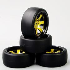 4PCS 1:10 Scale RC Speed Drift Racing Car Tire & Wheel 6 Spoke For HSP HPI D6NKG