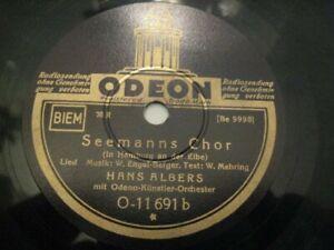 Schellack Hans ALBERS Gnädige Frau, komm spiel mit mir / Seemanns Chor ODEON
