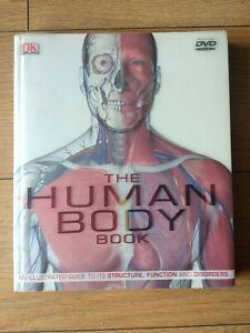 The Human Body Book DK with DVD Human Anatomy Illustrated Guide Book Used Good