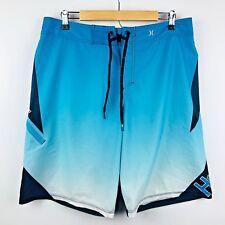Hurley Phantom Mens Board Shorts Size 34 Blue Swimsuit
