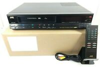 JVC (HR-D180U) VCR VHS Player Recorder With Remote - Serviced, Working