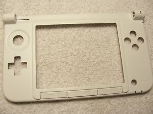 Nintendo 3DS XL Replacement Repair Part Bottom Middle Shell/Housing White Hinge
