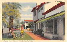 Palm Springs California Typical Desert Costumes Plaza Antique Postcard K69191