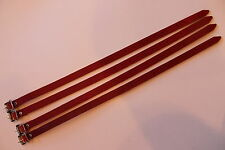 Leather SKI Straps for Leitz Roof Luggage Rack fits PORSCHE 911 & 912 Set of 4