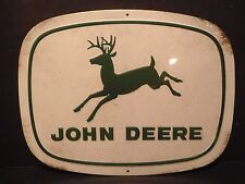 """John Deere Embossed Rustic Look Metal Sign """"Running  Deere"""" New Collectible Sign"""
