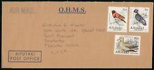 Mayfairstamps Aitutaki to Bradenton Bird Combo OHMS Cover wwh_19959