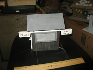 Built 1:24 G Scale Police and Fire Dept Shed