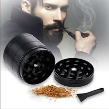 4 Piece 2 Inch Black Tobacco Herb Grinder Spice Herbal Zinc Alloy Weed-Crusher