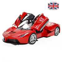 Ferraris 1:32 Alloy Car Model Diecast Sound Light Pull Back Door Toy Hot-Wheel