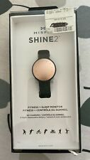 MISFIT shine2 fitness activity and sleep tracker black/rose gold water resistant