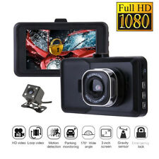 "Car Camera Recorder HD Dual Lens Dash Cam 1080P Front & Rear DVR 3.0"" Screen New"