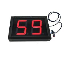 BTBSIGN Production Digital Counter Lap Timer with Button and Remote 4inch Red