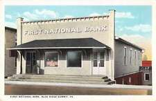 First National Bank Blue Ridge Summit  Pennsylvania Antique Postcard L2751