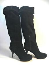 NINE WEST Destry OTK elegant black suede platform dressy boots 10 FREE SHIP