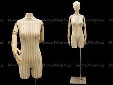 Female Linen cover white color with stripes and Flexible Arms #F2Slarm+Bs-05