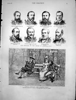 Antique Old Print Twos Company Threes None Glindoni Memebers Ho Commons 1880