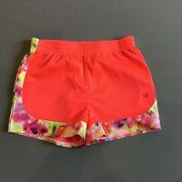 Champion Youth Girls Athletic Shorts Size M Orange Floral Detail Super Cute EUC
