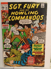 Marvel SGT. FURY AND HIS HOWLING COMMANDOS #83 (1971) Dick Ayers Cover & Art