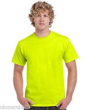 GILDAN HI VIS T SHIRT SAFETY GREEN YELLOW S M L XL XXL 3XL 4XL 5XL